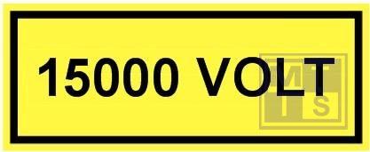 15000 volt vinyl 250x100mm