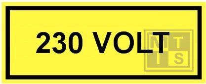 230 volt vinyl 250x100mm