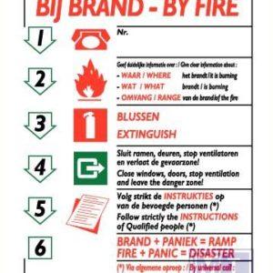 Richtlijnen bij brand ned/eng vinyl 210x297mm