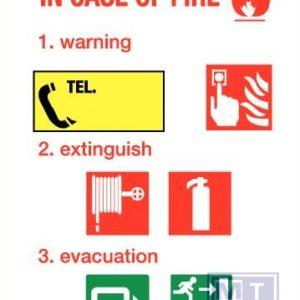 In case of fire vinyl PP 210x297mm