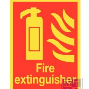 Imo fire extinguisher vinyl 150x200mm