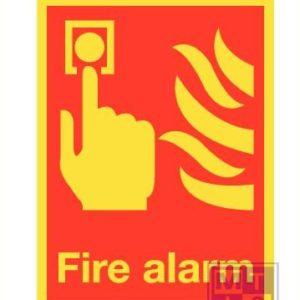 Imo fire alarm vinyl fotolum 150x200mm