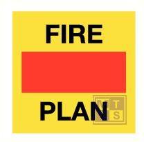 Imo fire control plan vinyl fotolum 50x50mm