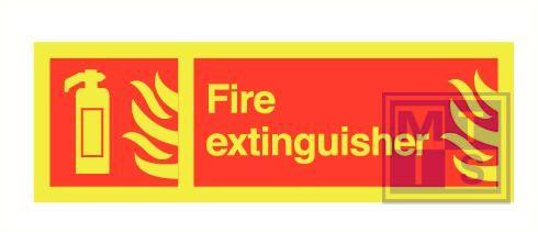 Imo fire extinguisher zelfkl. vinyl fotolum 300x100mm