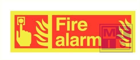 Imo fire alarm zelfkl. vinyl fotolum 300x100mm