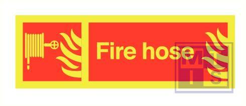 Imo fire hose zelfkl. vinyl fotolum 300x100mm