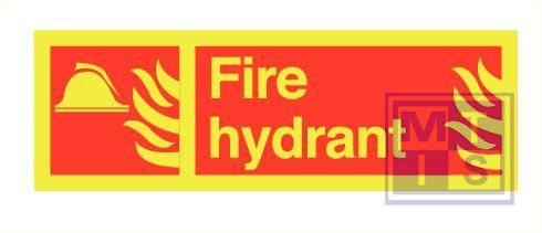 Imo fire hydrant zelfkl. vinyl fotolum 300x100mm