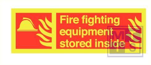 Imo fire fighting equip. zelfkl. vinyl fotolum 300x100mm