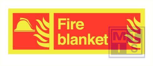 Imo fire blanket zelfkl. vinyl fotolum 300x100mm