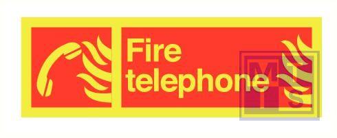 Imo fire telephone zelfkl. vinyl fotolum 300x100mm