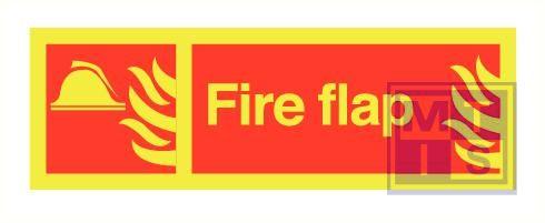 Imo fire flap zelfkl. vinyl fotolum 300x100mm