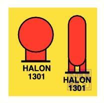 Imo halon 1301 bottles protec. area vinyl fotolum 150x150mm