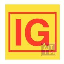Imo inert gas installation vinyl fotolum 150x150mm