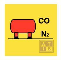 Imo co2/nitrogen bulk installation vinyl fotolum 150x150mm