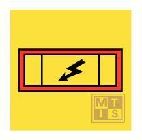 Imo emergency switchboard vinyl fotolum 150x150mm