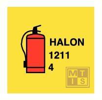 Imo halon 1211 fire extin. vinyl fotolum 150x150mm