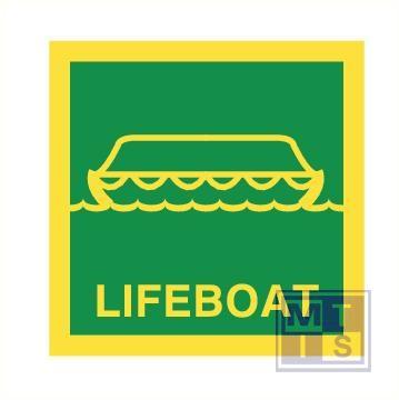imo lifeboat vinyl fotolum 150x150mm