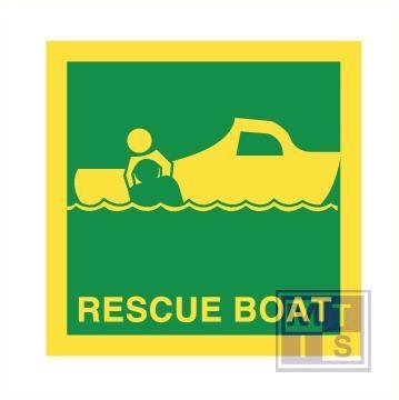 Imo rescue boat vinyl fotolum 150x150mm