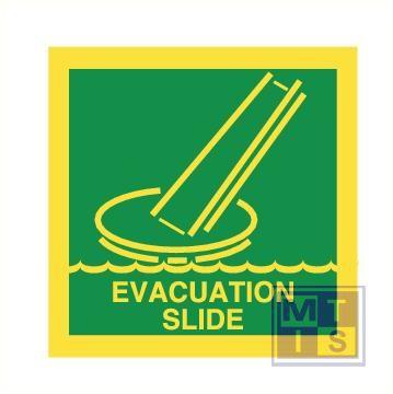 Imo evacuation slide vinyl fotolum 150x150mm