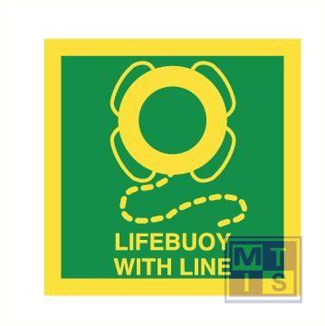 Imo lifebuoy with line vinyl fotolum 150x150mm