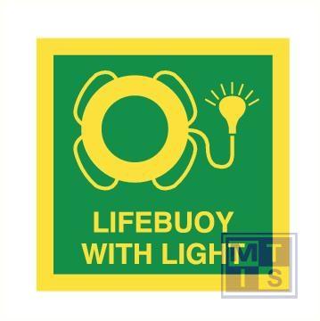 Imo lifebuoy with light vinyl fotolum 150x150mm
