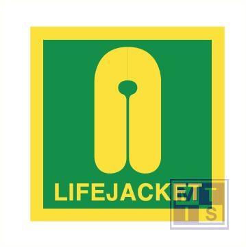 Imo lifejacket vinyl fotolum 50x50mm