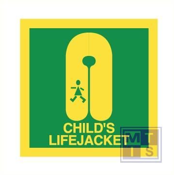 Imo child's lifejacket vinyl fotolum 150x150mm