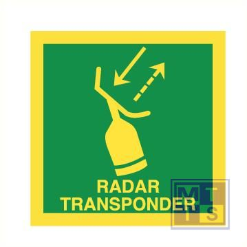 Imo radar transponder vinyl fotolum 50x50mm
