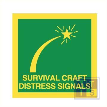 Imo surv craft distress signals vinyl fotolum 50x50mm