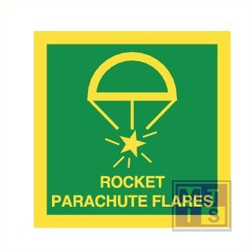 Imo rocket parachute flares vinyl fotolum 150x150mm