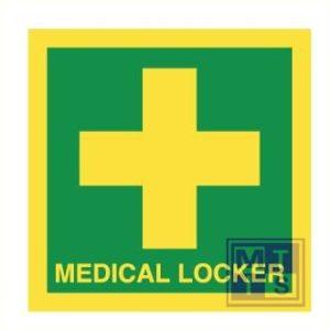 Imo medical locker vinyl fotolum 50x50mm