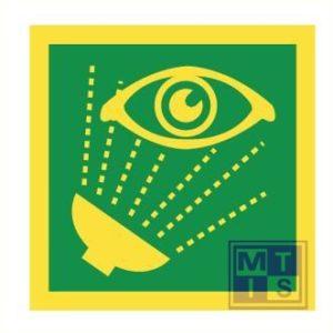 Imo emergency eye wash vinyl fotolum 150x150mm