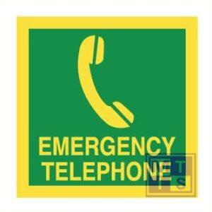 Imo emergency teleph. vinyl fotolum 150x150mm