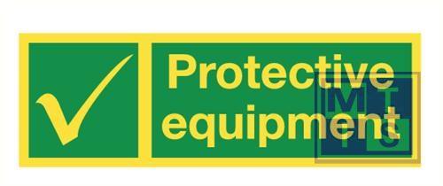Imo protective equipm. vinyl fotolum 300x100mm