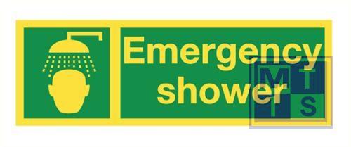 Imo emergency shower vinyl fotolum 300x100mm