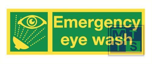 Imo emergency eye wash vinyl fotolum 300x100mm