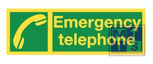 Imo emergency telepho.vinyl fotolum 300x100mm
