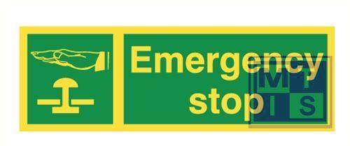 Imo emergency stop vinyl fotolum 300x100mm