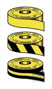 Anti-slip zwart/geel 25mm x 18,3 mtr