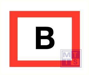 """B"" aansluitpunt droge stijgleiding pp zelfklevend 300x400mm"