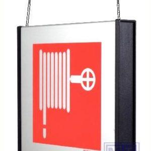 Brandslang alu hang 156x150mm zwarte eindkappen