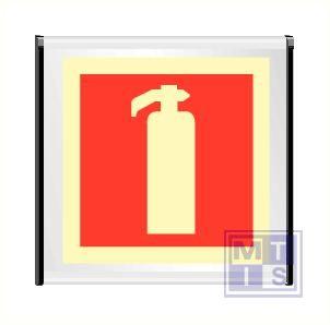 Brandblusser alu enkelz fotolum 156x150mm zwarte eindkappen