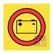 Emergency batteries fotolum vinyl 150x150mm