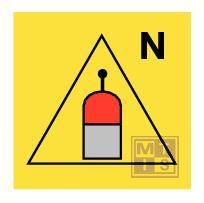 Remote rel. station nitrogen fotolum vinyl 150x150mm