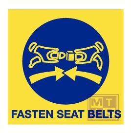 Imo fasten seat belts vinyl fotolum 150x150mm