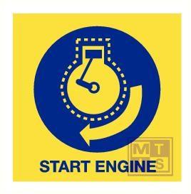 Imo start engine vinyl fotolum 150x150mm