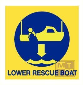 Imo lower rescue boat vinyl fotolum 150x150mm