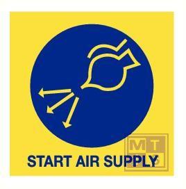 Imo start air supply vinyl fotolum 150x150mm