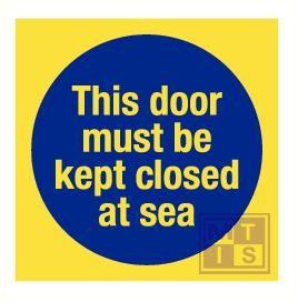 Imo this door must kept closed at sea vinyl fotolu 150x150mm