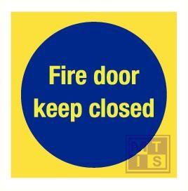 Imo fire door kept closed vinyl fotolum 150x150mm